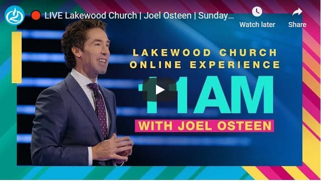 Lakewood Church Sunday Live Service October 25 2020
