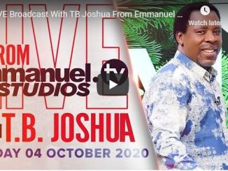 Prophet TB Joshua Sunday Live Service October 4 2020