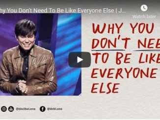 Joseph Prince Sermon - Why You Dont Need To Be Like Everyone Else