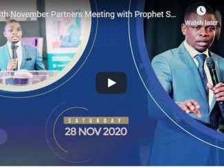 Partners Meeting with Prophet Shepherd Bushiri On 28 November 2020