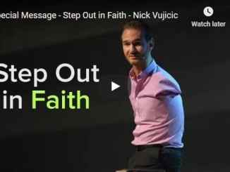 Pastor Nick Vujicic Sermon - Step Out in Faith