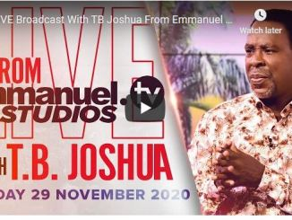 TB Joshua Sunday Live Service November 29 2020