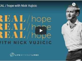 Sermon - Real hope with Pastor Nick Vujicic