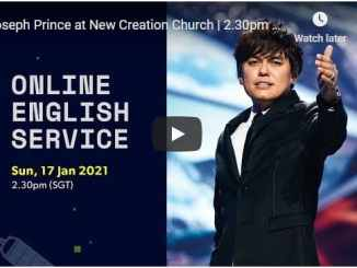 Joseph Prince At New Creation Church Sunday Service January 17 2021