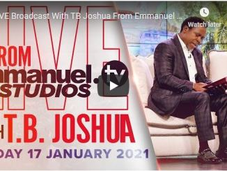 Prophet TB Joshua Sunday Live Service January 17 2021