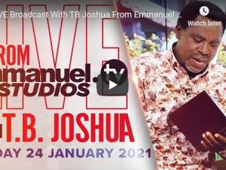 Prophet TB Joshua Sunday Live Service January 24 2021