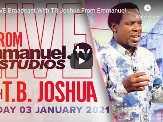 Prophet TB Joshua Sunday Live Service January 3 2021