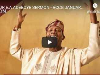 RCCG Sunday Live Service January 24 2021 With Pastor Adeboye