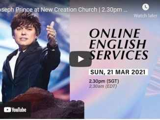 Pastor Joseph Prince Sunday Live Service March 21 2021
