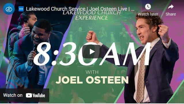 Lakewood Church Sunday Live Service April 11 2021