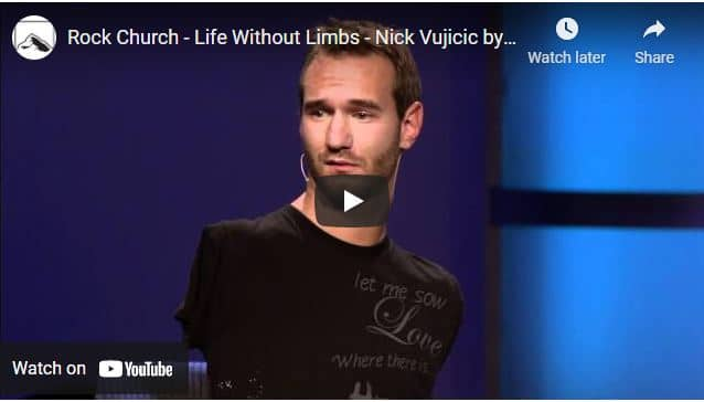 Nick Vujicic Shares His Miraculous Journey Of Faith At Rock Church