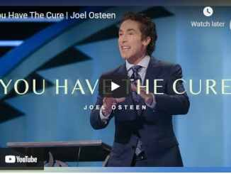 Pastor Joel Osteen Sermon - You Have The Cure