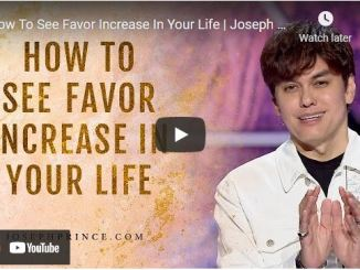 Pastor Joseph Prince Sermon - How To See Favor Increase In Your Life