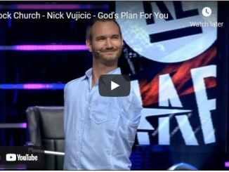 Pastor Nick Vujicic - God's Plan For You