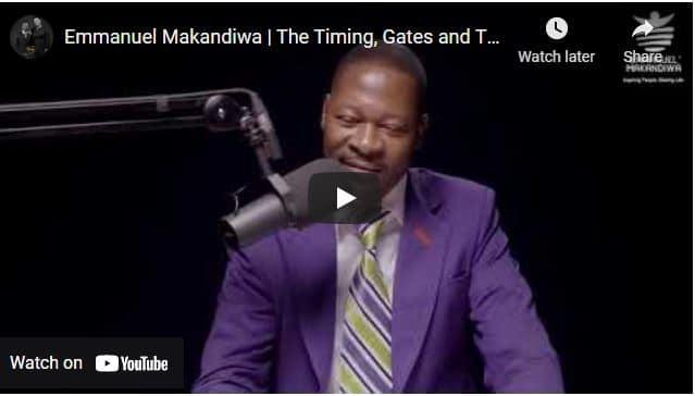 Prophet Emmanuel Makandiwa - The Timing, Gates and The Prophetic