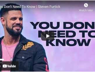 Pastor Steven Furtick Sermon - You Don't Need To Know