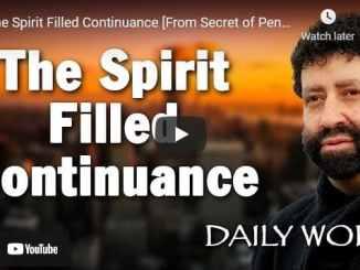 Rabbi Jonathan Cahn - The Spirit Filled Continuance