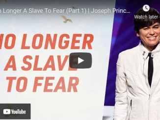 Pastor Joseph Prince Sermons: No Longer A Slave To Fear (Part 1)