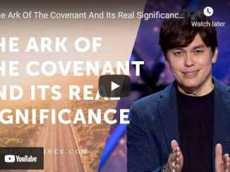 Pastor Joseph Prince: The Ark Of The Covenant And Its Real Significance