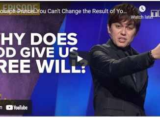 Pastor Joseph Prince: Why Does God Give Us Free Will
