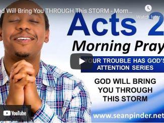 Pastor Sean Pinder Morning Prayer Session June 28 2021