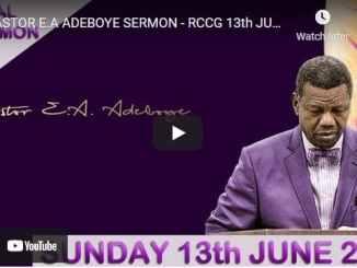 RCCG Sunday Live Service June 13 2021 With Pastor Adeboye