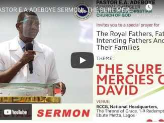RCCG Sunday Live Service June 6 2021 With Pastor Enoch Adeboye