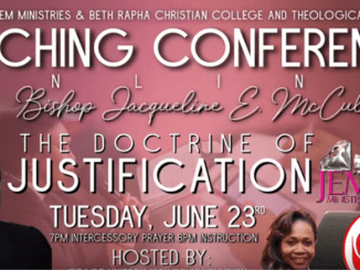 Bishop Jackie McCullough Sermons - The Doctrine of Justification