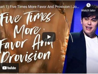 Pastor Joseph Prince: Five Times More Favor And Provision