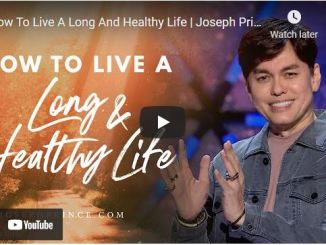 Pastor Joseph Prince Sermon: How To Live A Long And Healthy Life