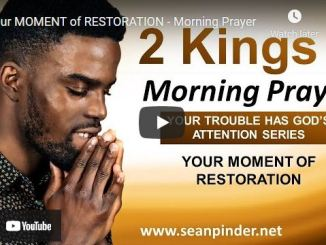 Pastor Sean Pinder Morning Prayer Session July 1 2021
