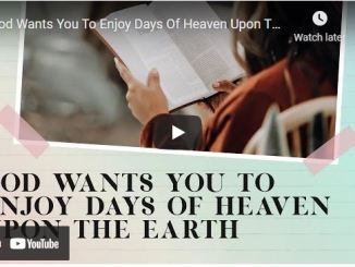 Joseph Prince: God Wants You To Enjoy Days Of Heaven Upon The Earth