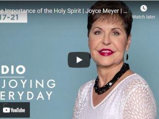 Joyce Meyer Message: The Importance of the Holy Spirit