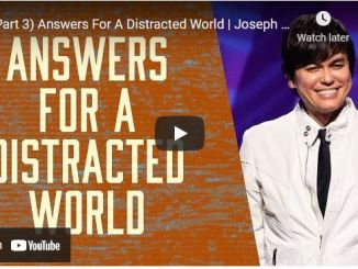 Pastor Joseph Prince: Answers For A Distracted World (Part 3)