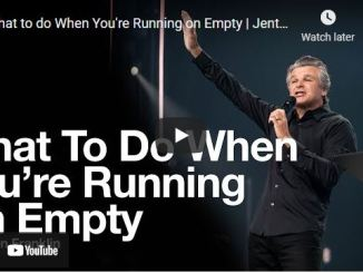 Pastor Jentezen Franklin: What to do When You're Running on Empty