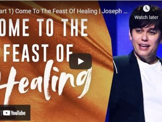 Pastor Joseph Prince Sermon: Come To The Feast Of Healing (Part 1)