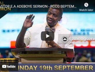 RCCG Sunday Live Service September 19 2021
