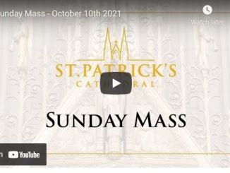 Catholic Sunday Mass At St. Patrick's Cathedral - October 10th 2021