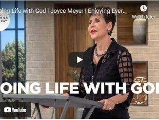 Message By Joyce Meyer: Doing Life with God