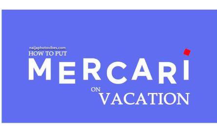Mercari Vacation Mode