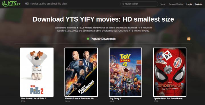 yts movie download site