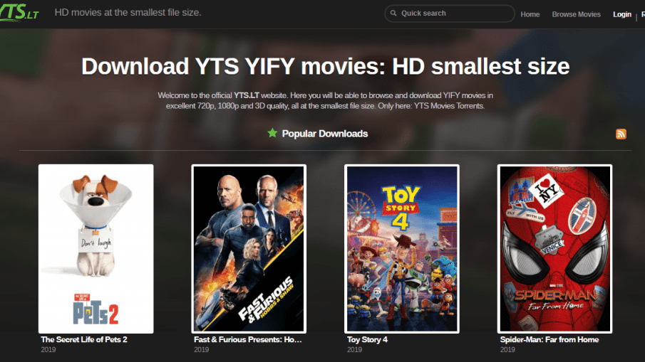 yts movie download site