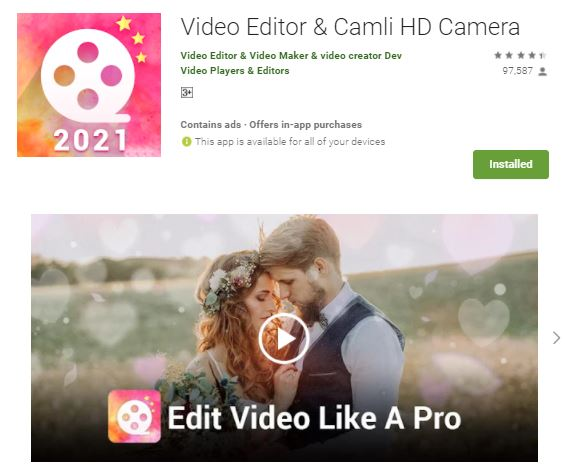best free video editing app for android without watermark