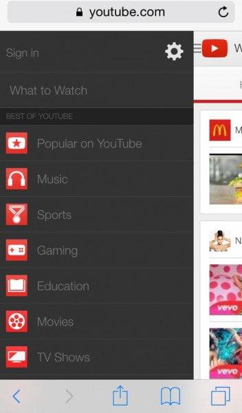 iPhone YouTube signin YouTube parental controls.