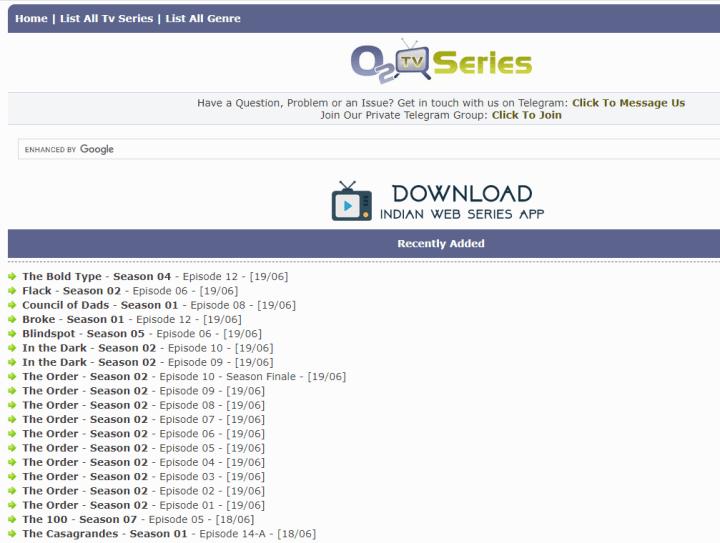 o2tvseries homepage