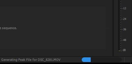 Generating Peak Files Premiere Pro