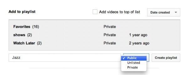 creating youtube music playlist