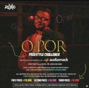 Instrumental: Rexxie - O Por (Freestyle Challenge) Mp3 Audio Download