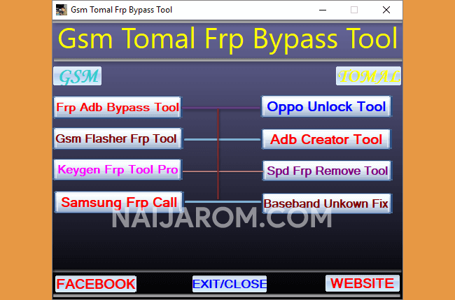 gsm tomal frp bypass tool