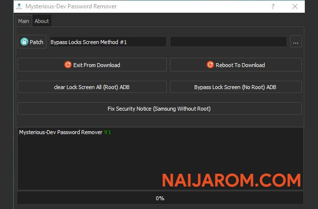 Mysterious Dev Password Remover v1